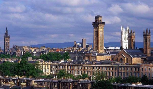 Glasgow's city skyline.