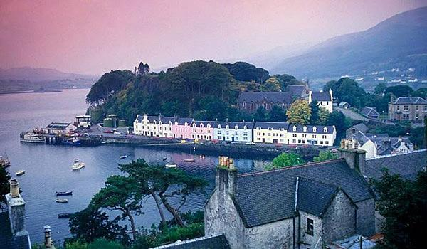 Portree Town on the Isle of Skye.