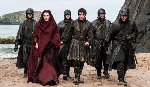 The Red Lady arrives at Dragonstone a.k.a. Downhill Beach (Pic Courtesy of HBO)