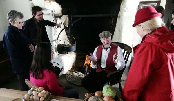 Storytelling around the Hearth at the Ulster American Folk Park.