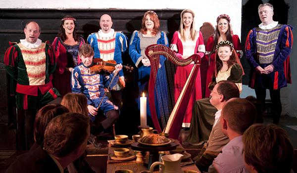 Lovely Melodies fill the Great Hall at the Medieval Banquet at Bunratty Castle.