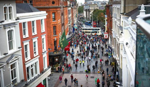 Grafton Street - Dublin's premier shopping location.