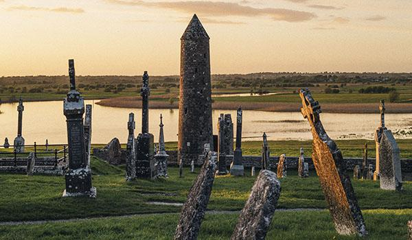 Clonmacnoise Monastic Site was founded in the 6th Century.