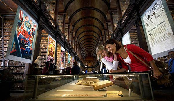 Marvel at the 9th Century Book of Kells, on display at Trinity College