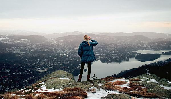 A Stunning View of Bergen From Mount Fløyen