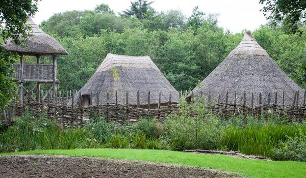 Crannogs huts at Craggaunowen