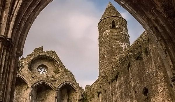 Rock of Cashel inside ruins architecture